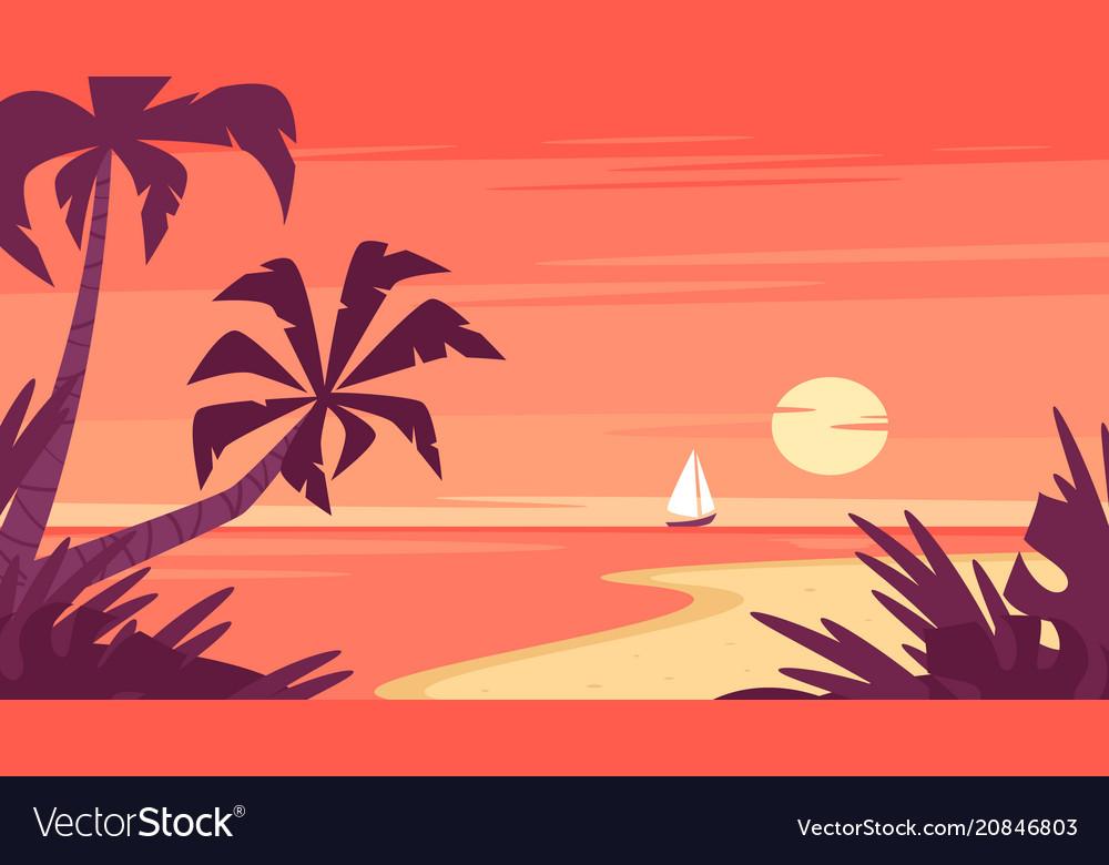 Sunrise and a ship