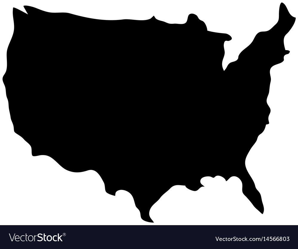 Usa country map icon Royalty Free Vector Image