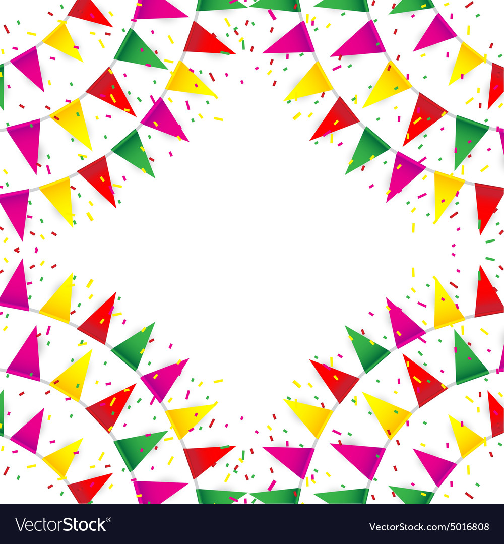 Celebrate banner party flags with confetti