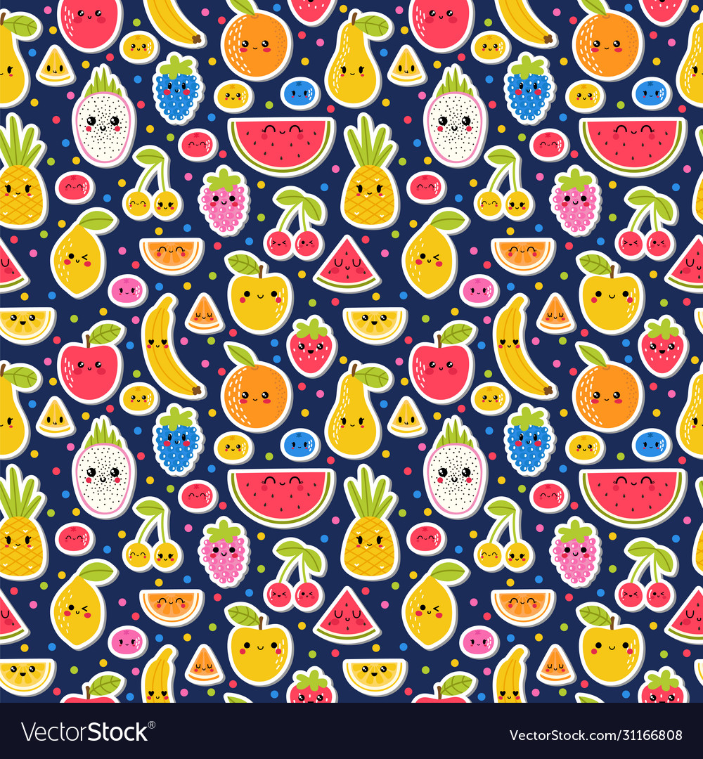 Colorful hand drawn seamless pattern with summer