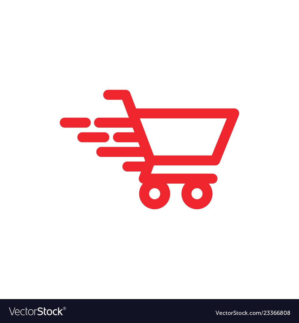 Fast cart graphic icon design template