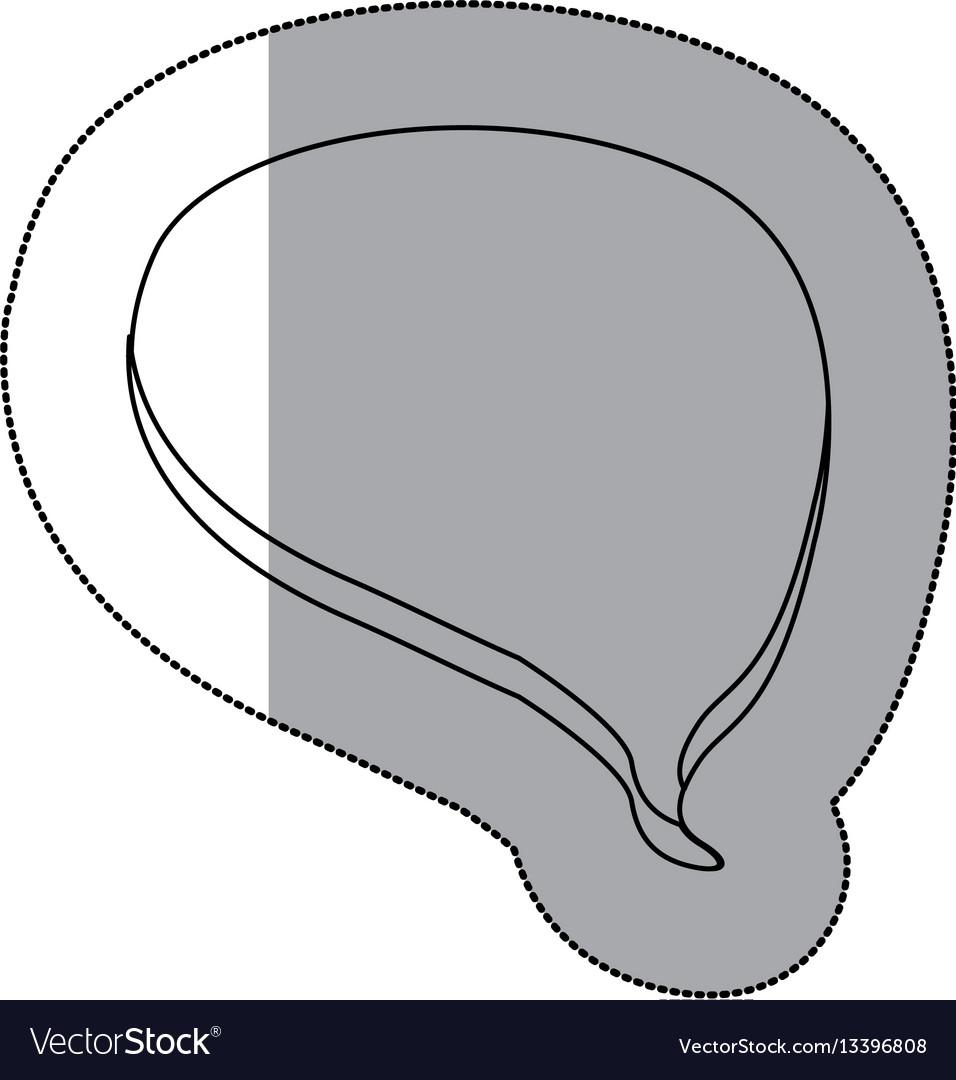 Figure chat bubble icon vector image