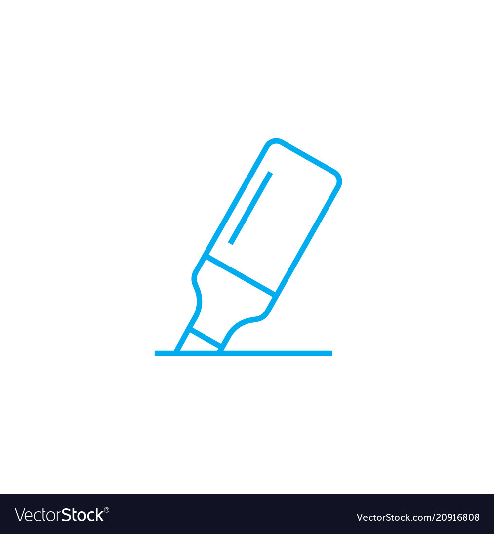Highlighter linear icon concept highlighter line