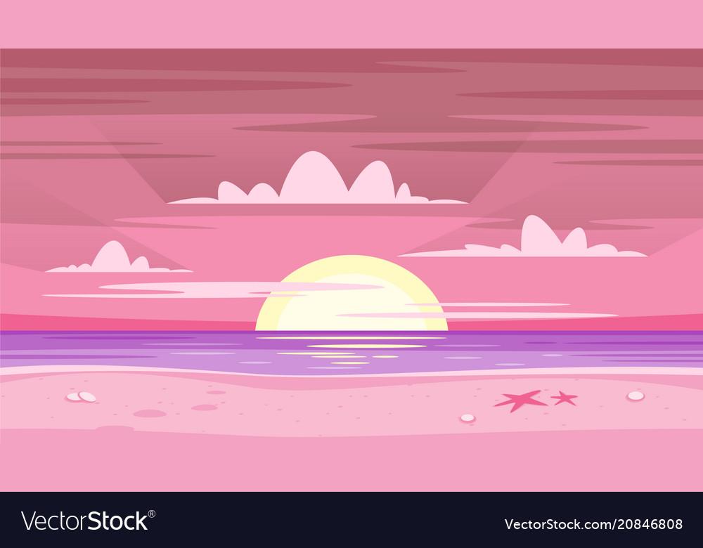 Pink sunset background