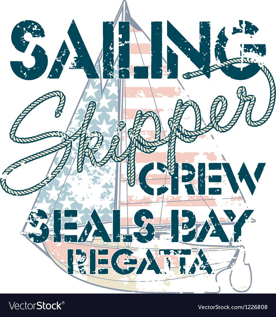 Sailing crew vector image