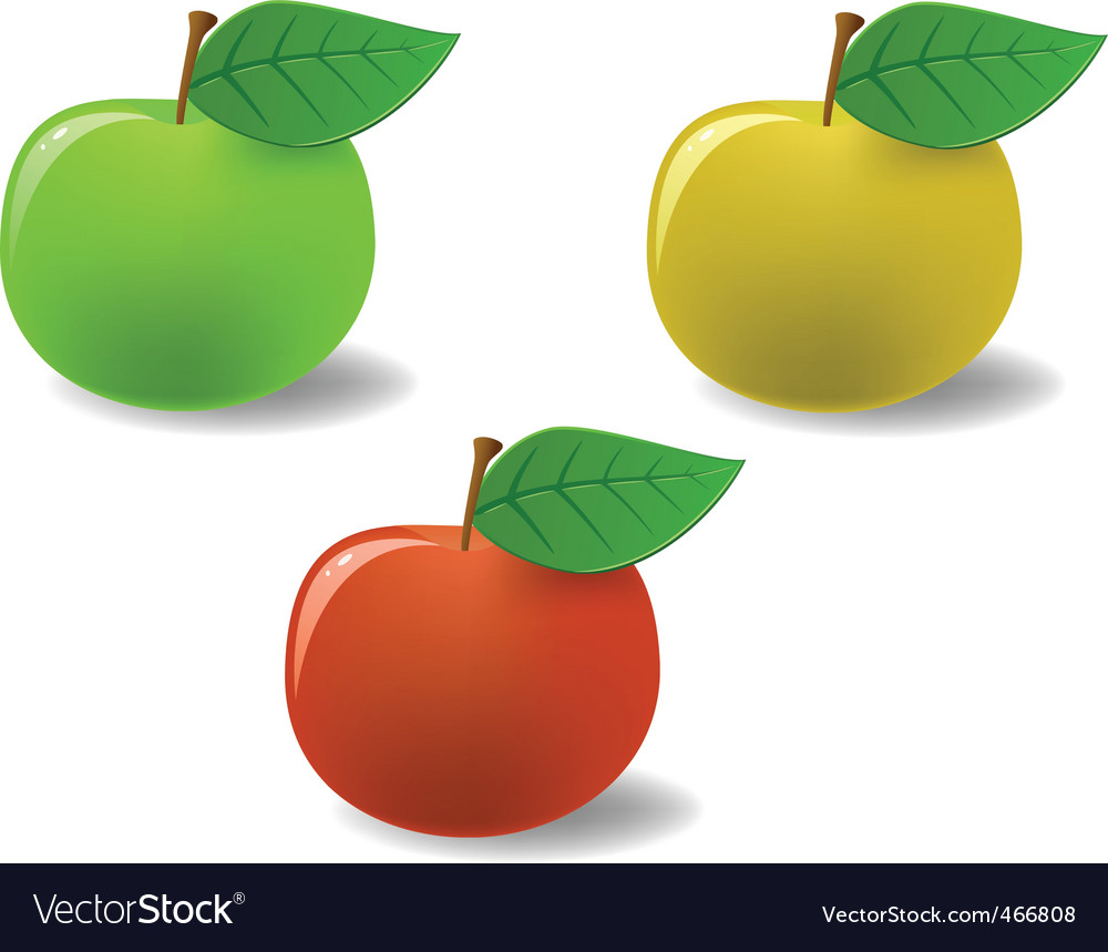 Set of colored apples vector image