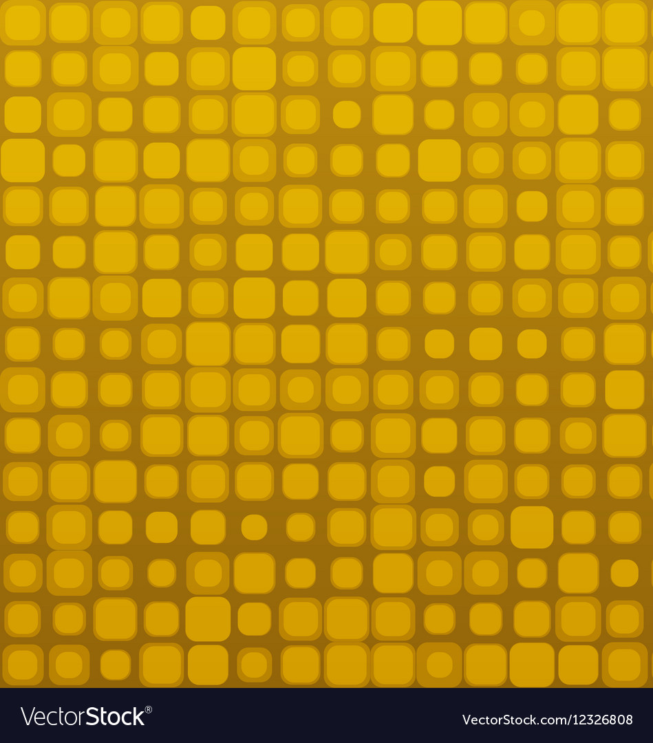 Square Golden Brown Seamless Geometric Pattern