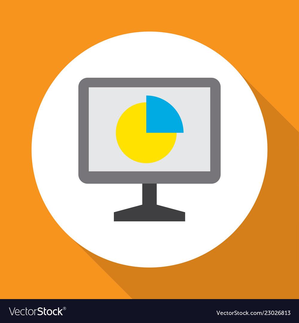Analytics icon flat