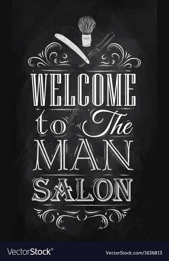 Barbershop Poster chalk
