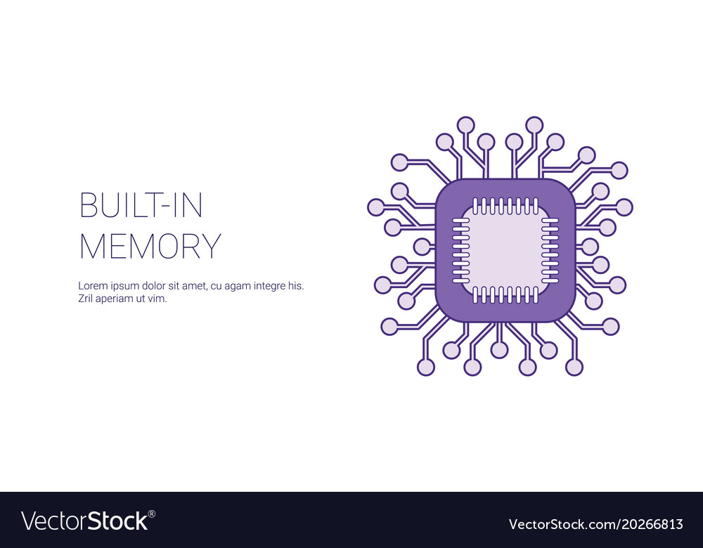 Built in memory of device template web banner with