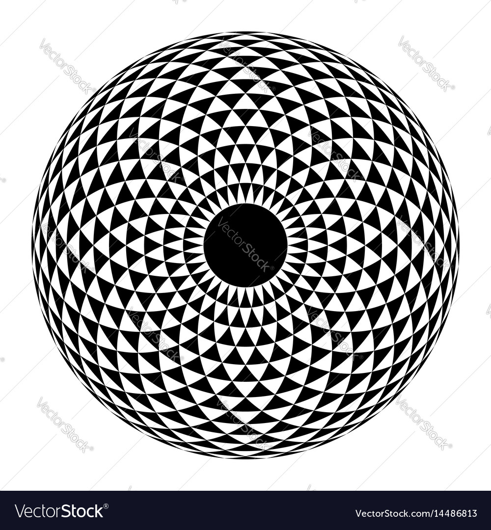 Geometric eye mandala vector image