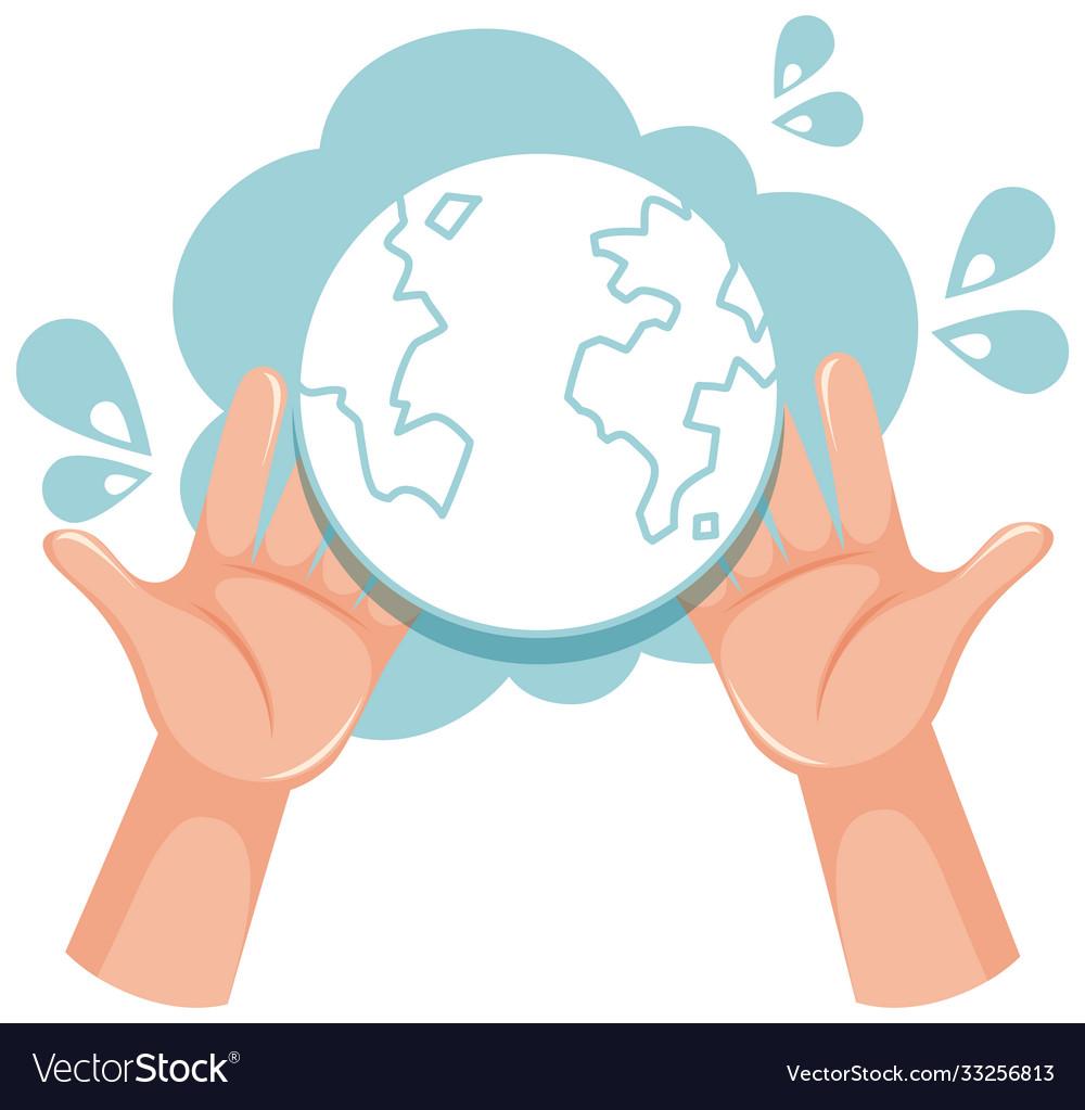 Global handwashing day icon