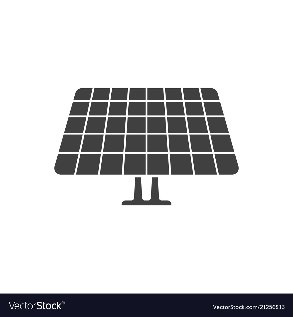 Icon of the solar panel on white background