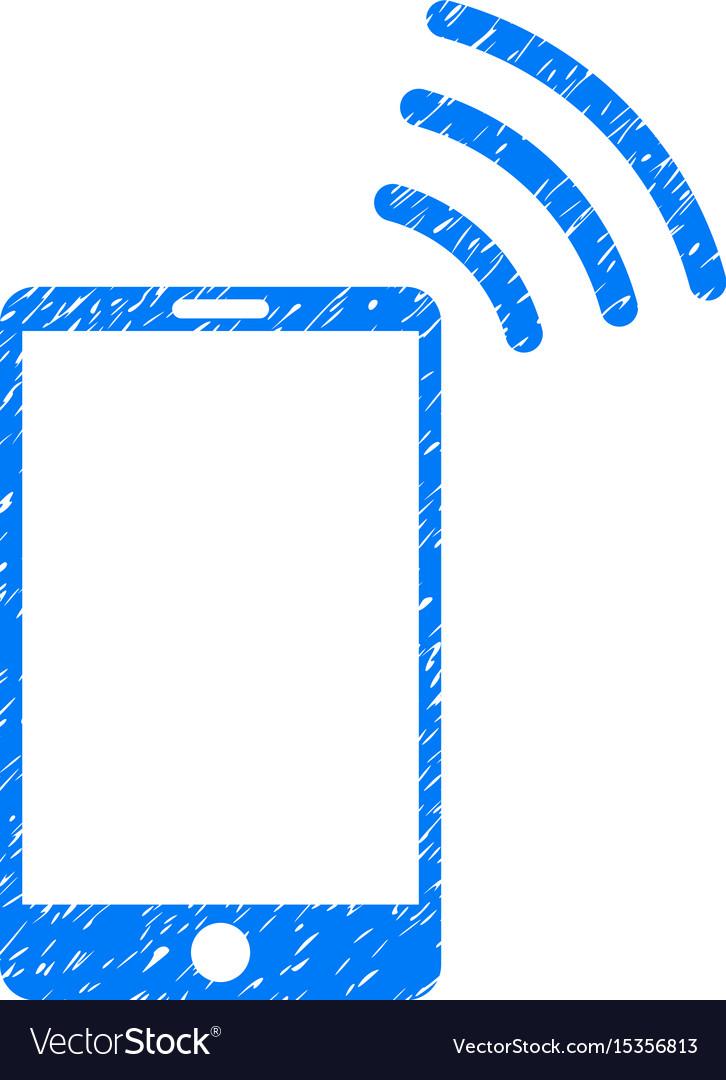 Mobile wi-fi signal grunge icon