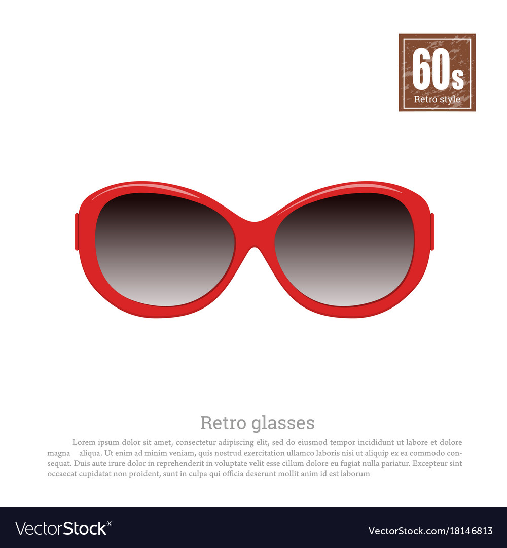 fba3cea2d1 Retro glasses on white background Royalty Free Vector Image