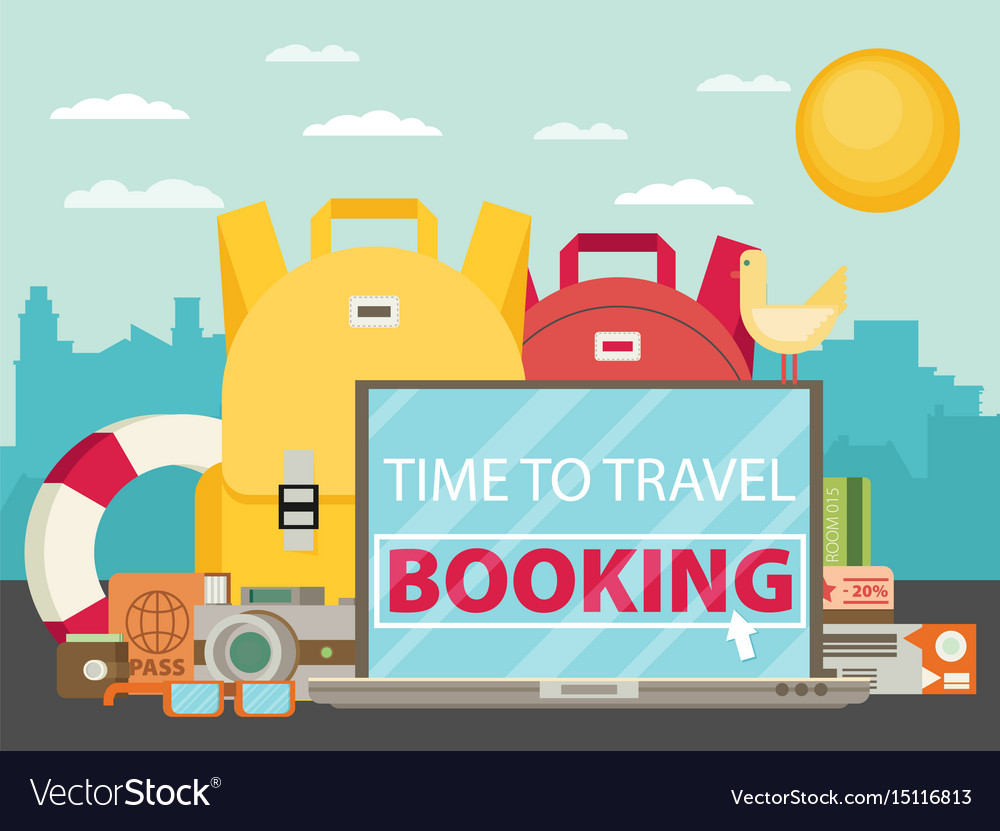 Time to travel set travel equipment flat