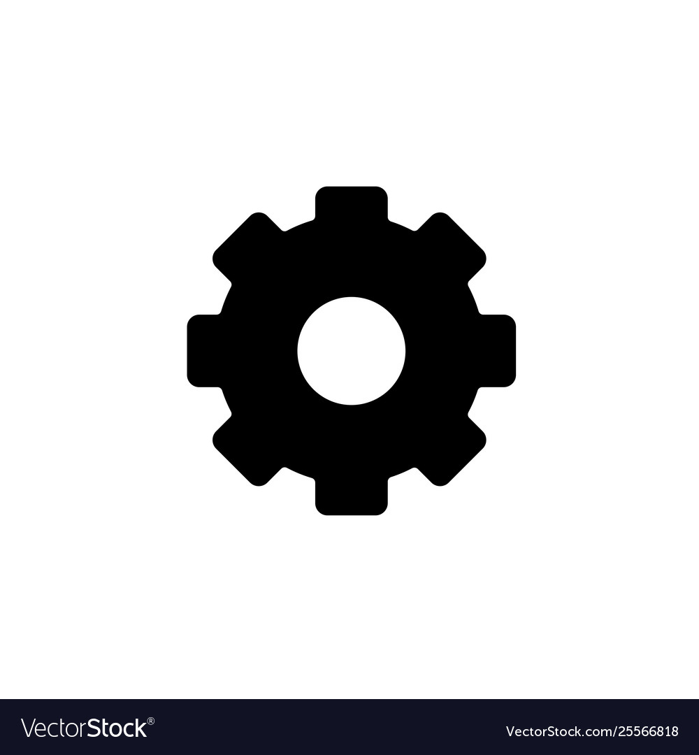 Cogwheel gear settings icon isolated