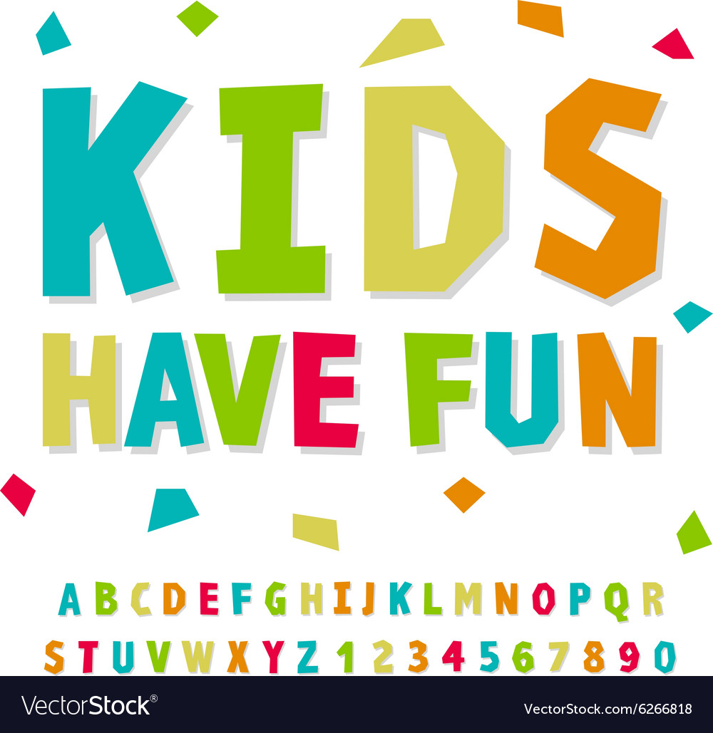 Creative kids funny alphabet and numbers