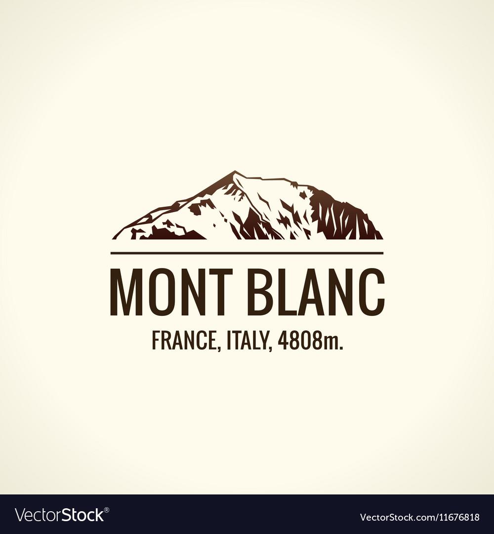 Mountain tourist logo emblem mount