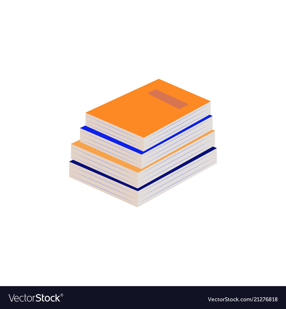 Stack of paper books with hardcover lying on some