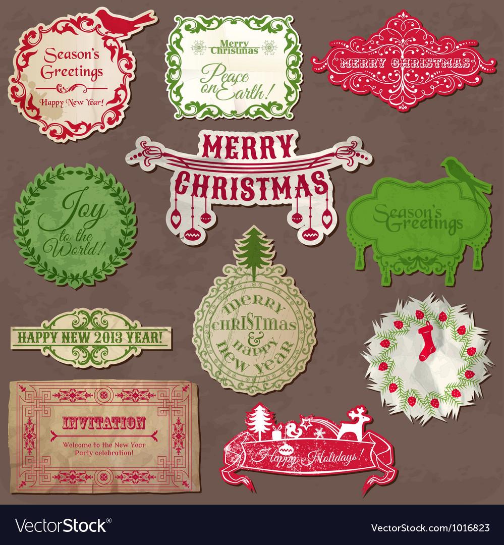 Christmas Calligraphic Design Elements vector image