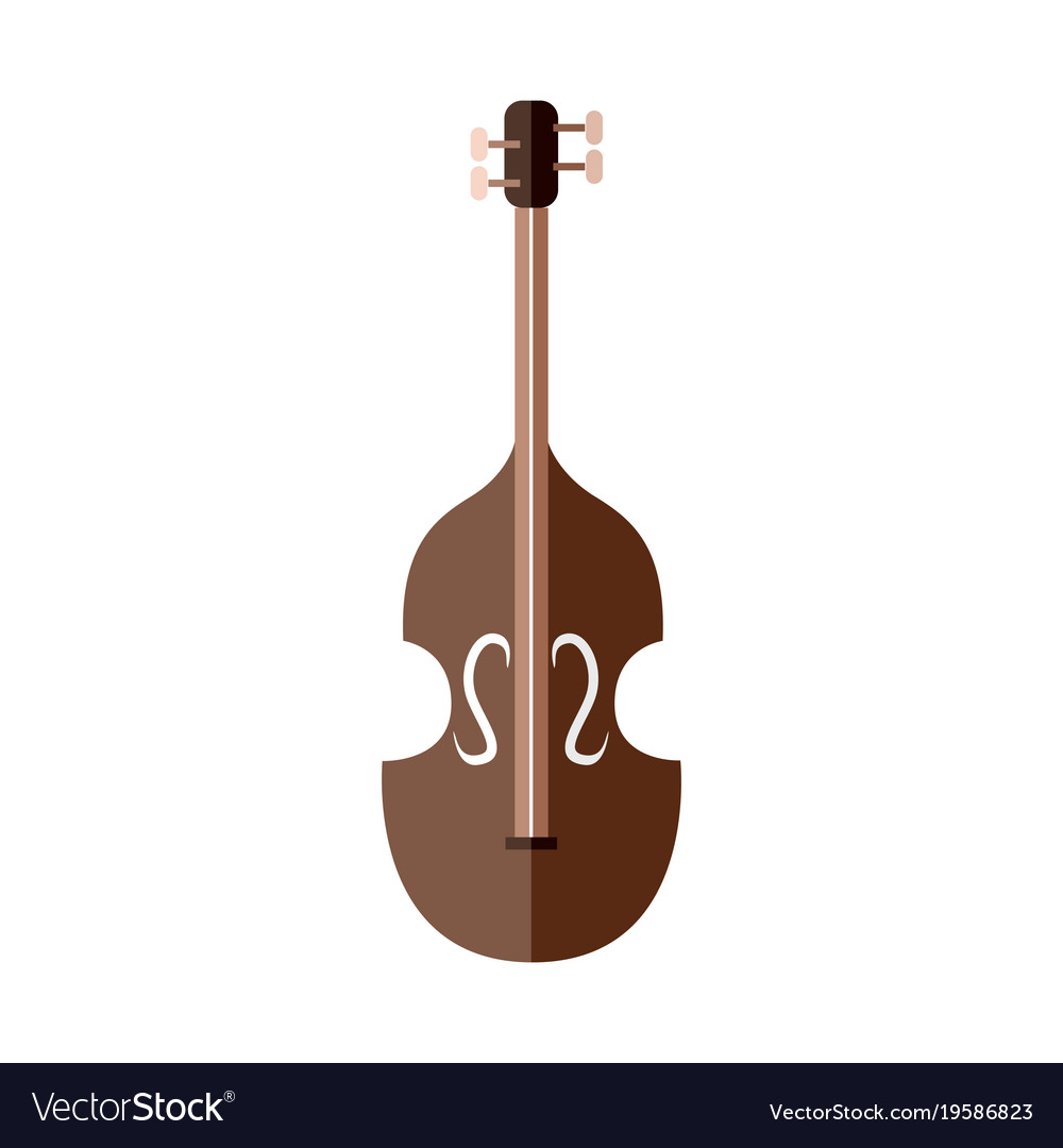 Classic string instrument graphic vector image