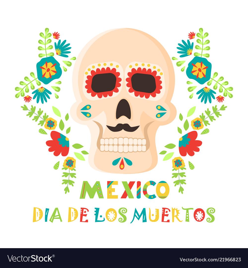 Day of the dead poster mexican dia de los muertos