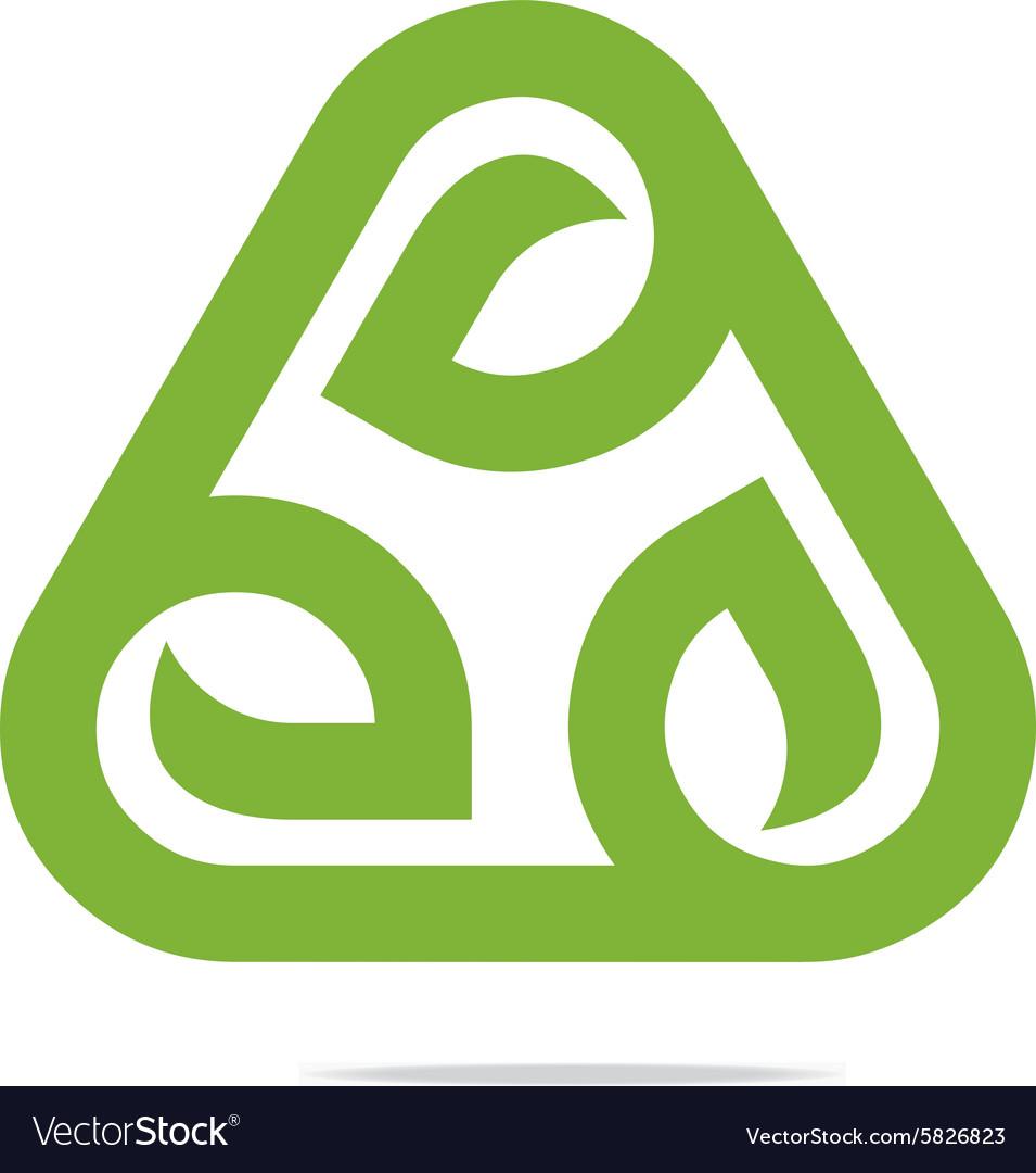 Design go green garden plants circle icon