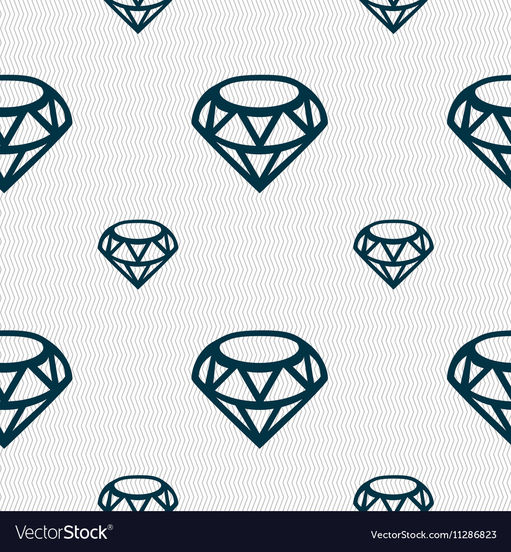 Diamond Icon sign Seamless pattern with geometric