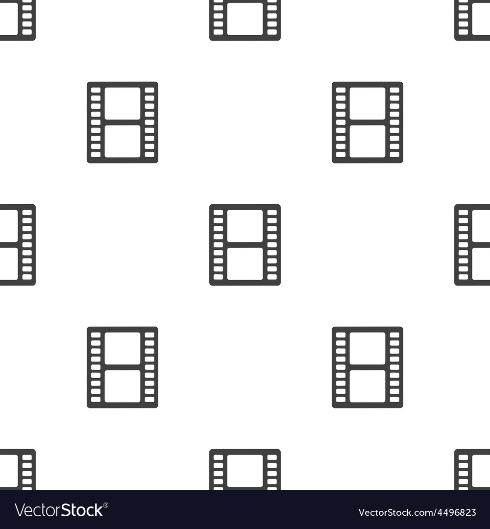 Film seamless pattern vector image