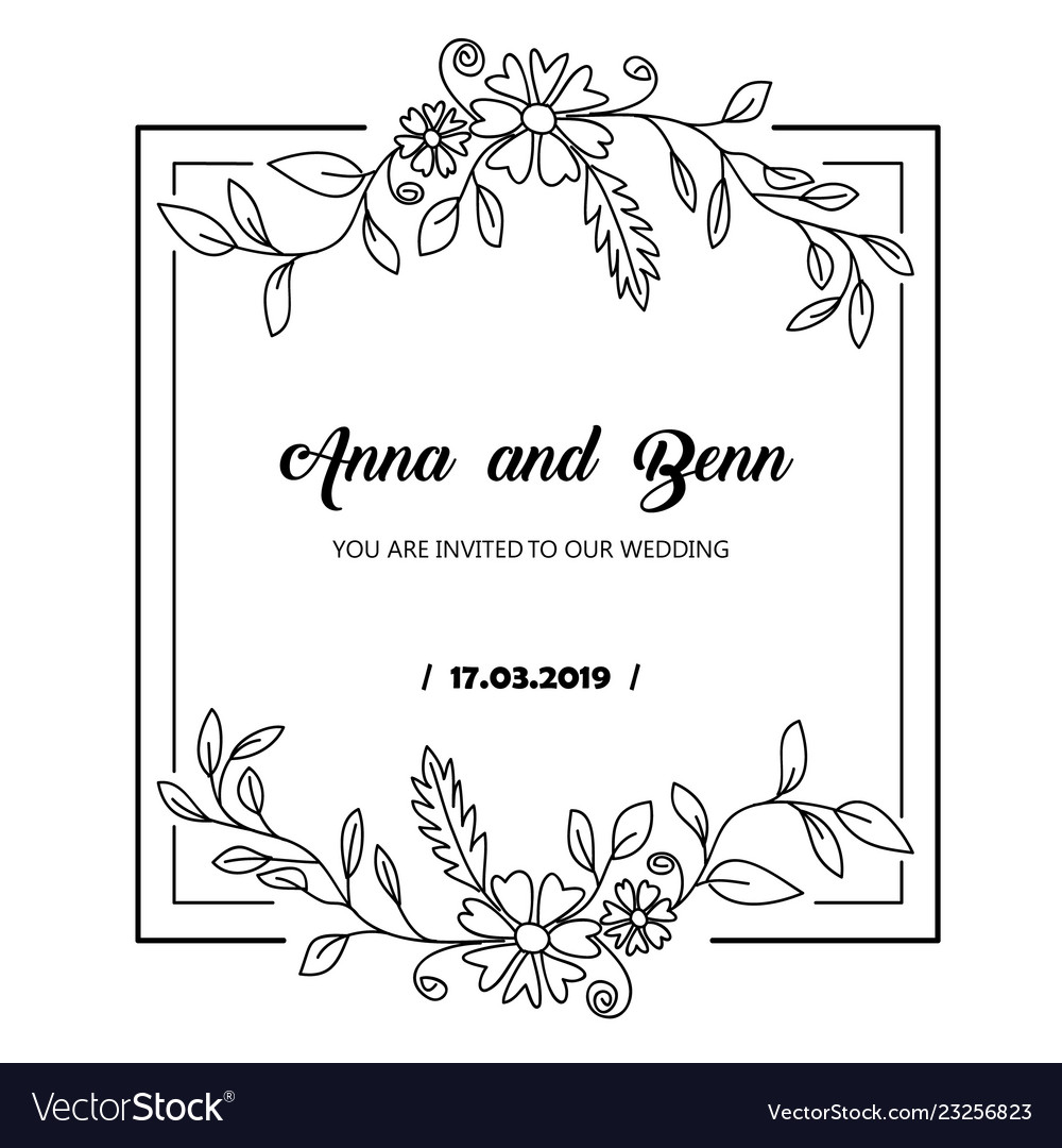 Hand drawn flower template best for your frame