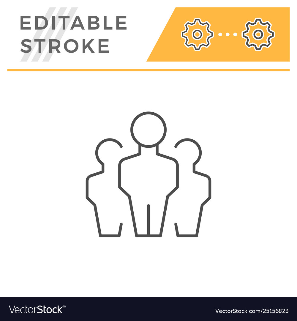 People group editable stroke line icon
