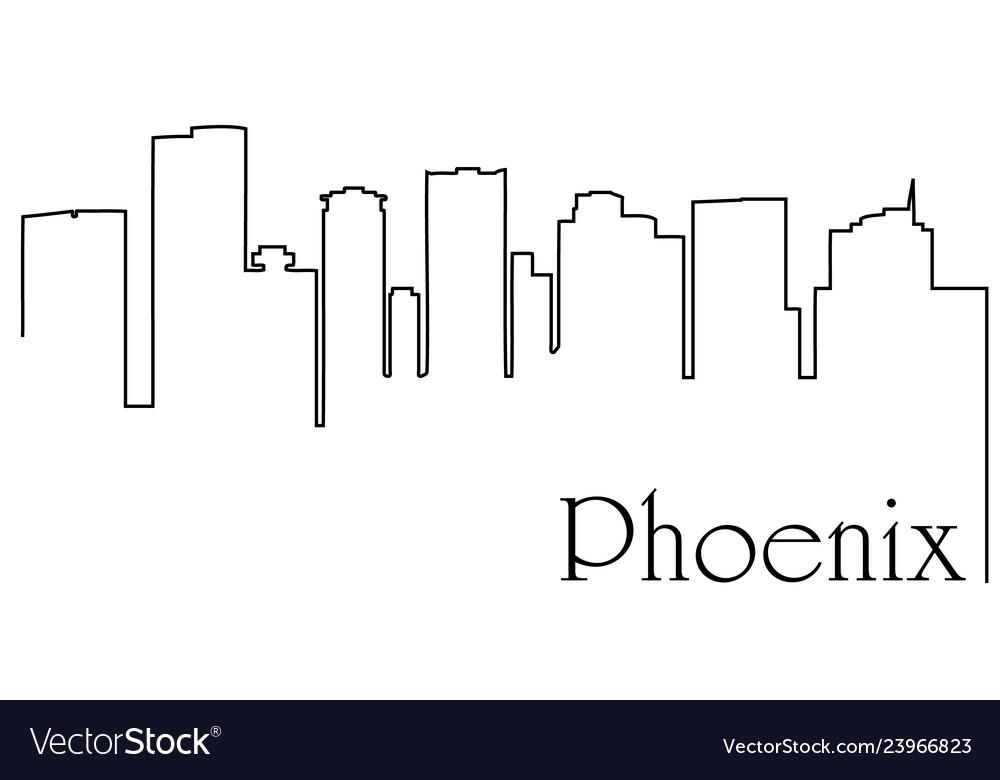 Phoenix city one line drawing