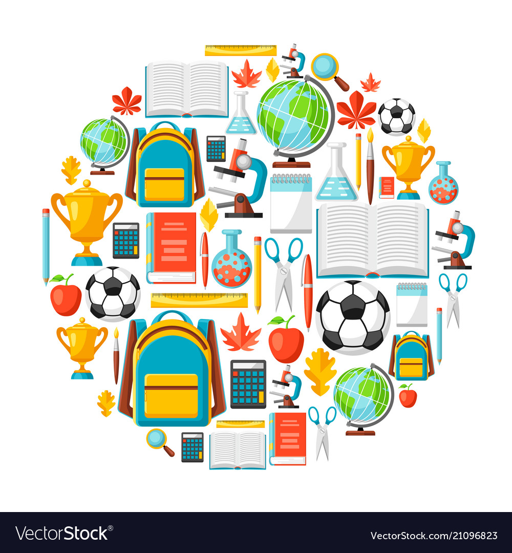 School background with education items