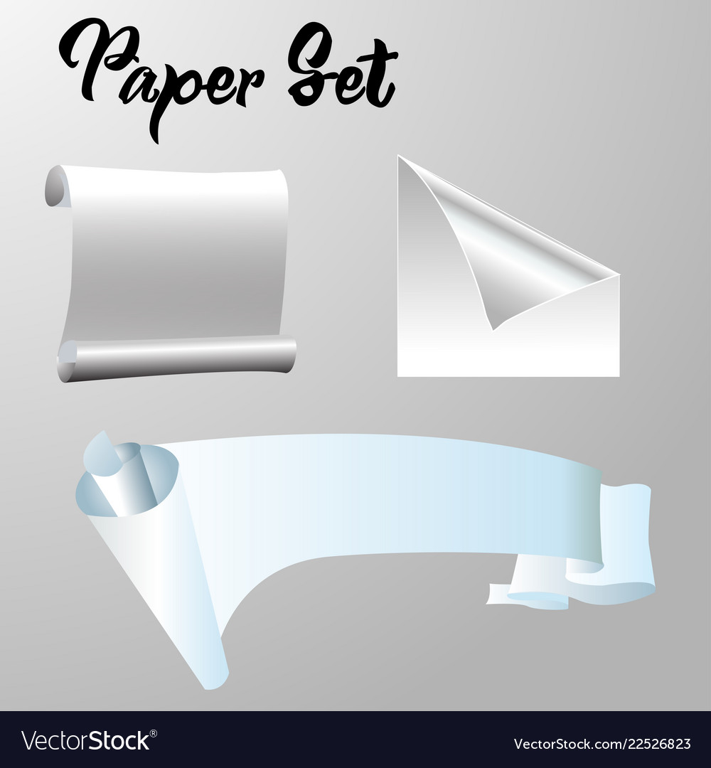 Simple paper set for background eps