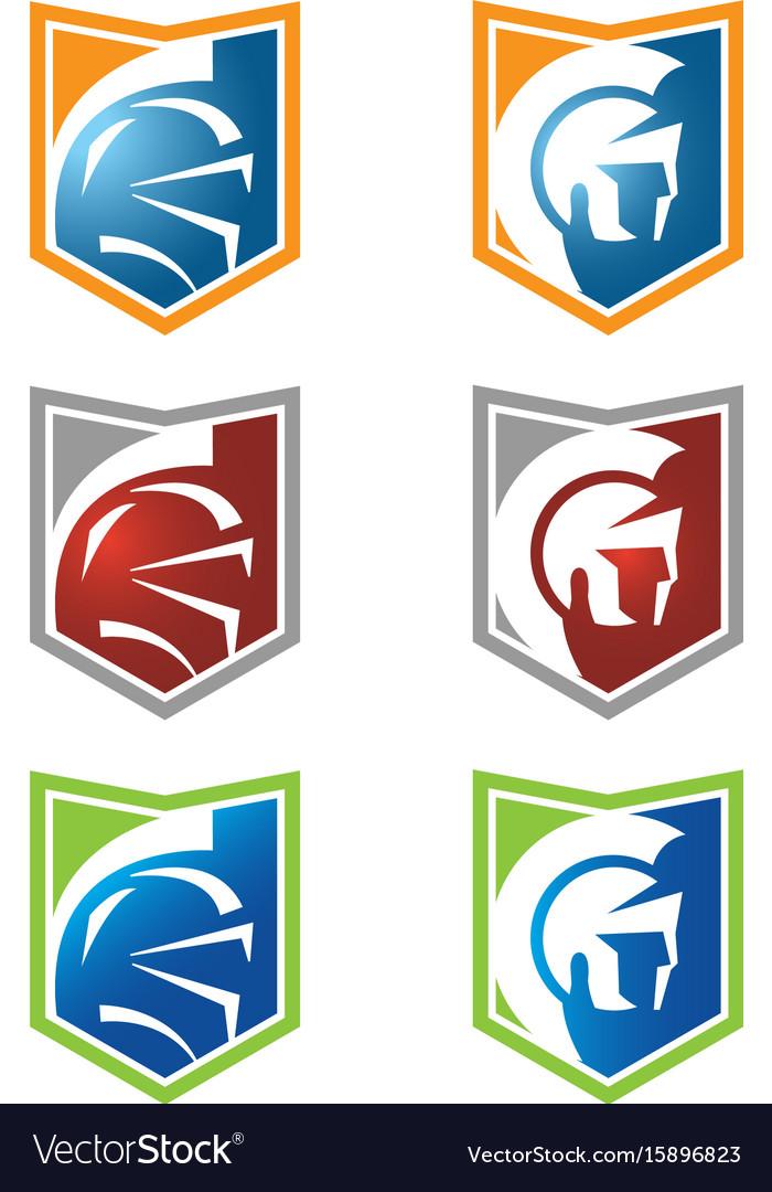 spartan head logo with variety color royalty free vector rh vectorstock com spartan head logo stencil msu spartan head logo