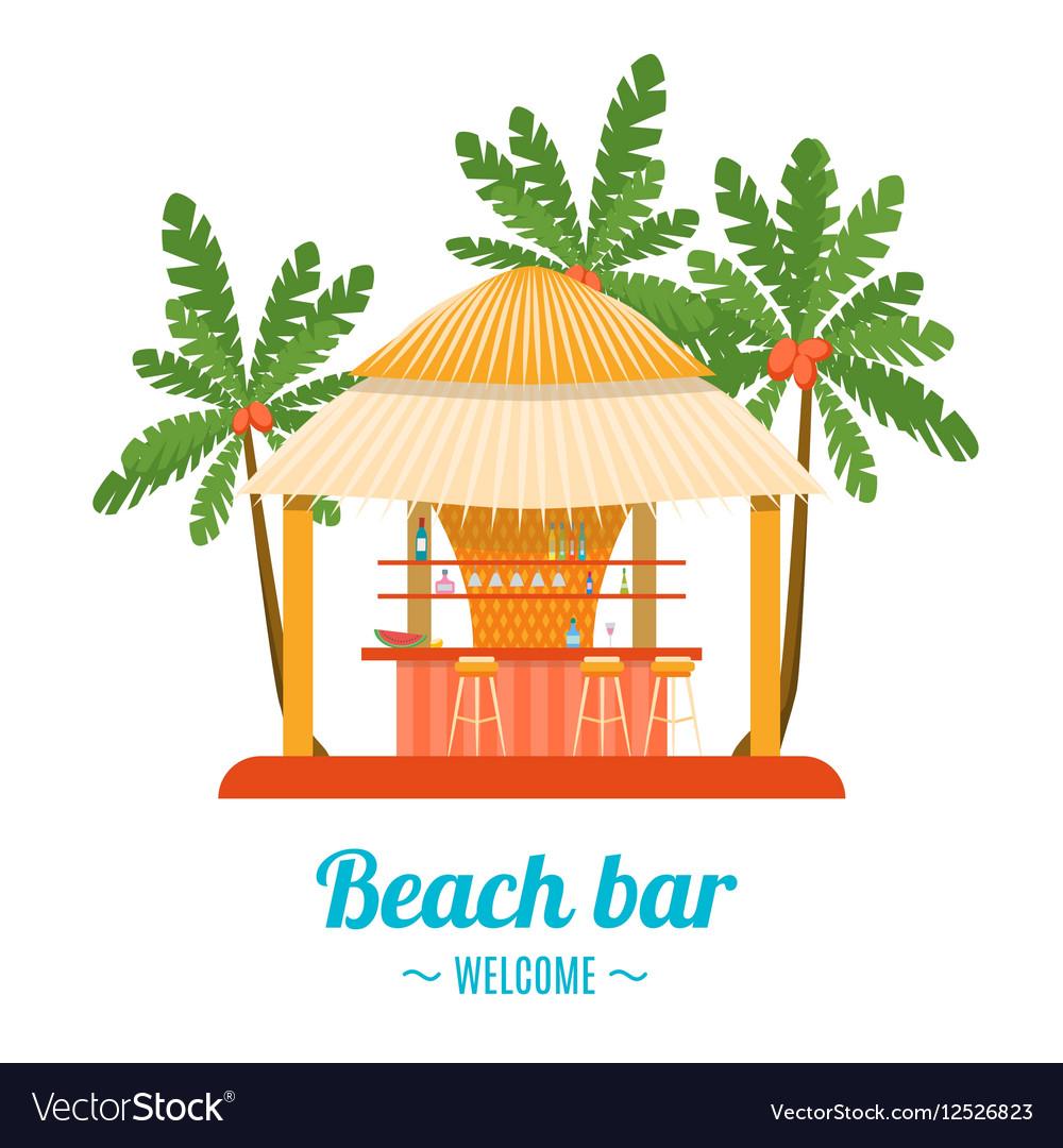 Tropical Beach Bar Banner Card