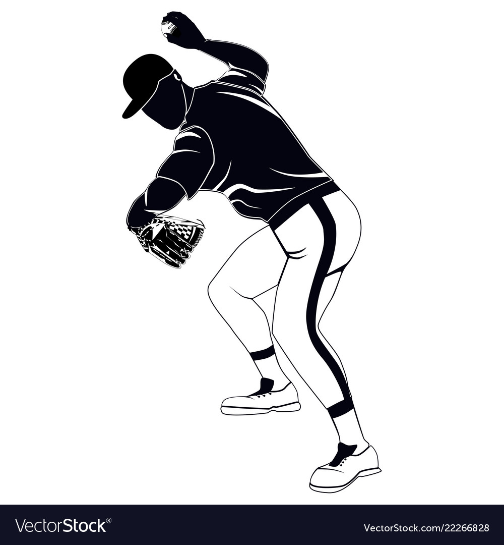 Black baseball pitcher throwing ball