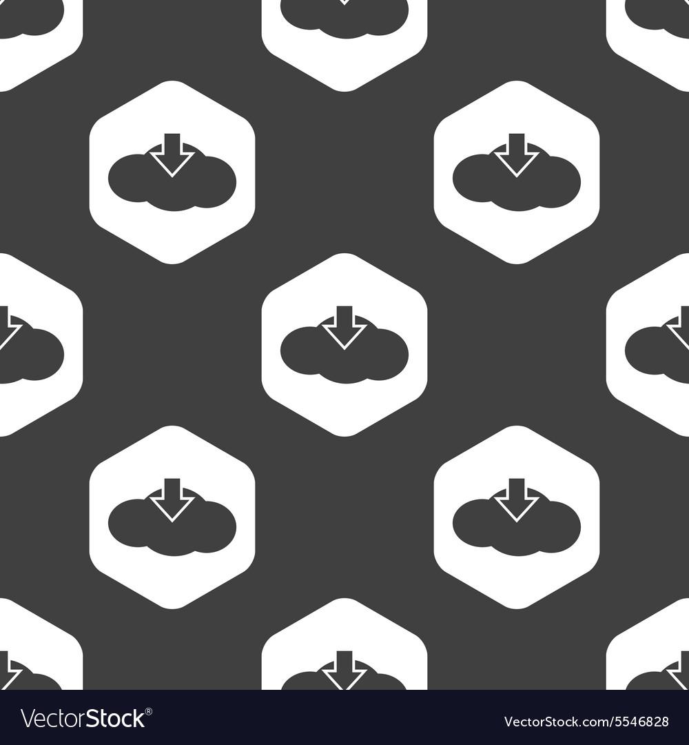 Black hexagon cloud download pattern