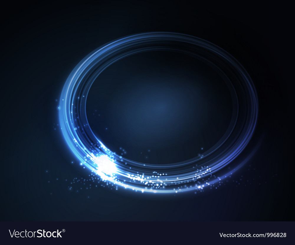 Blue oval frame vector image