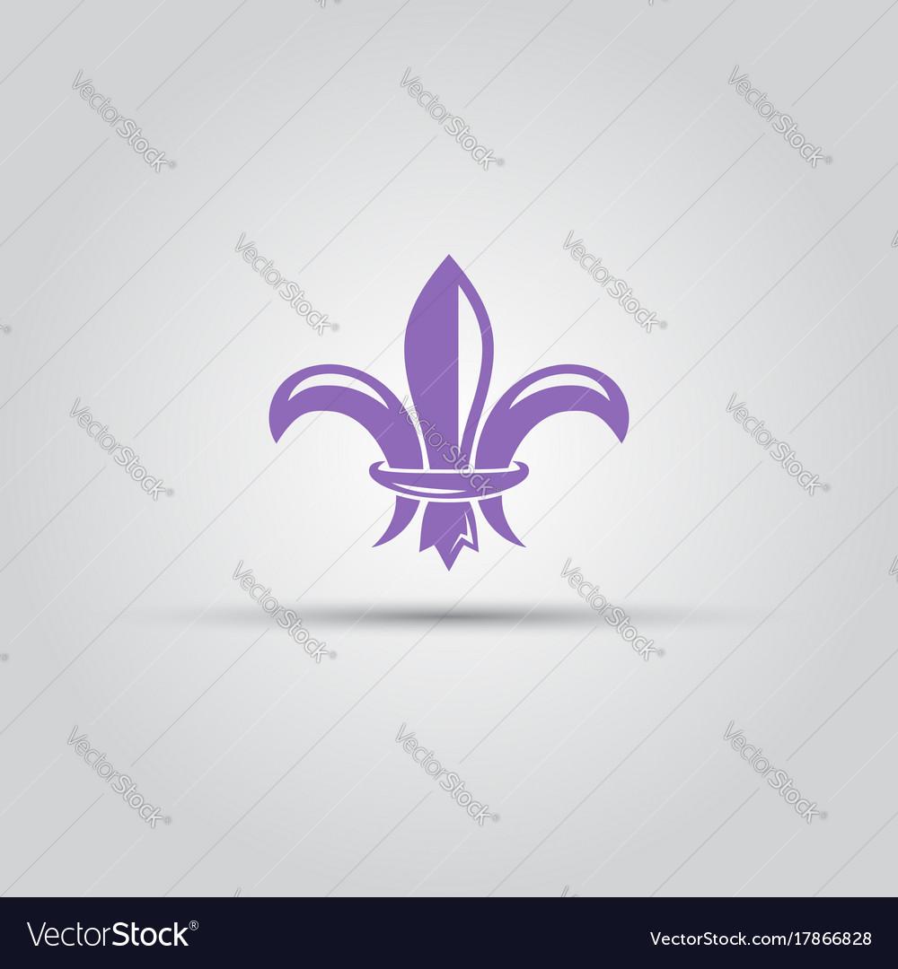 Fleur-de-lis isolated colored icon