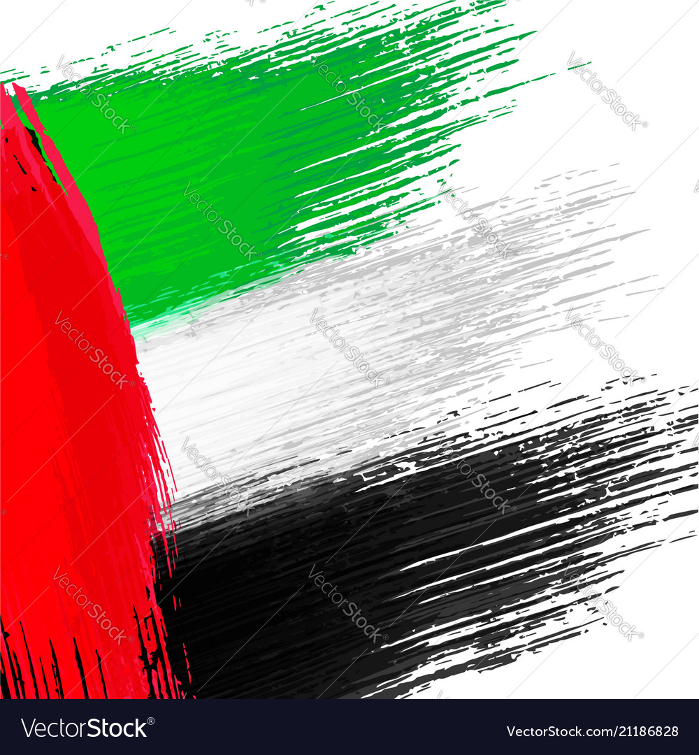 Grunge background in colors of uae flag
