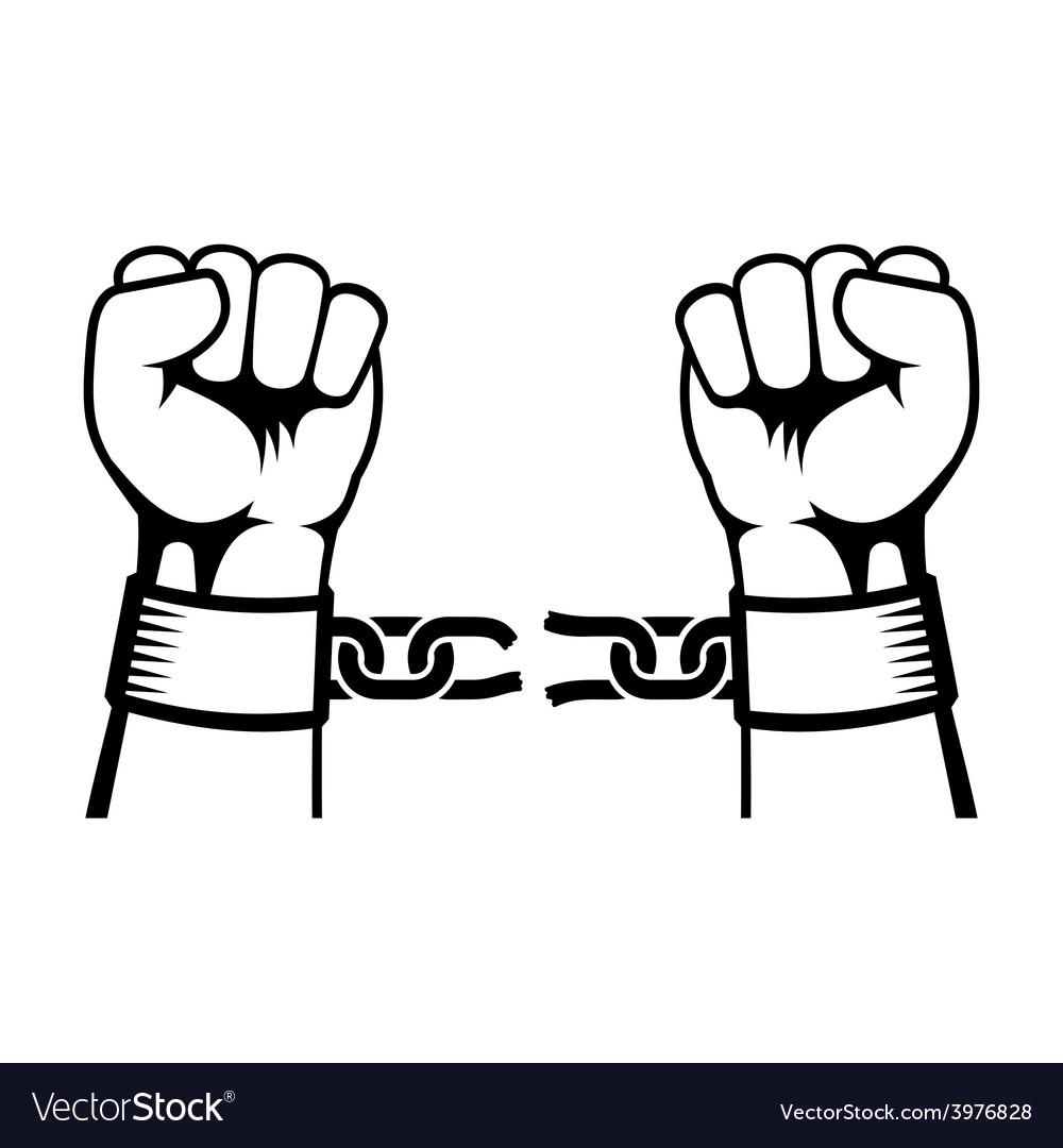 Hands Breaking Steel Chain
