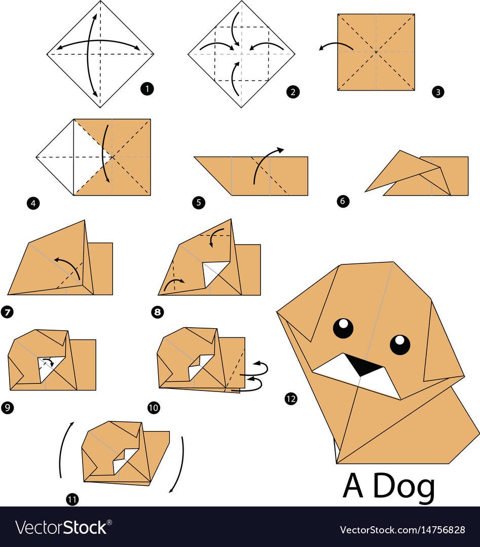 Easy Origami Puppy Face Instructions | 1080x947