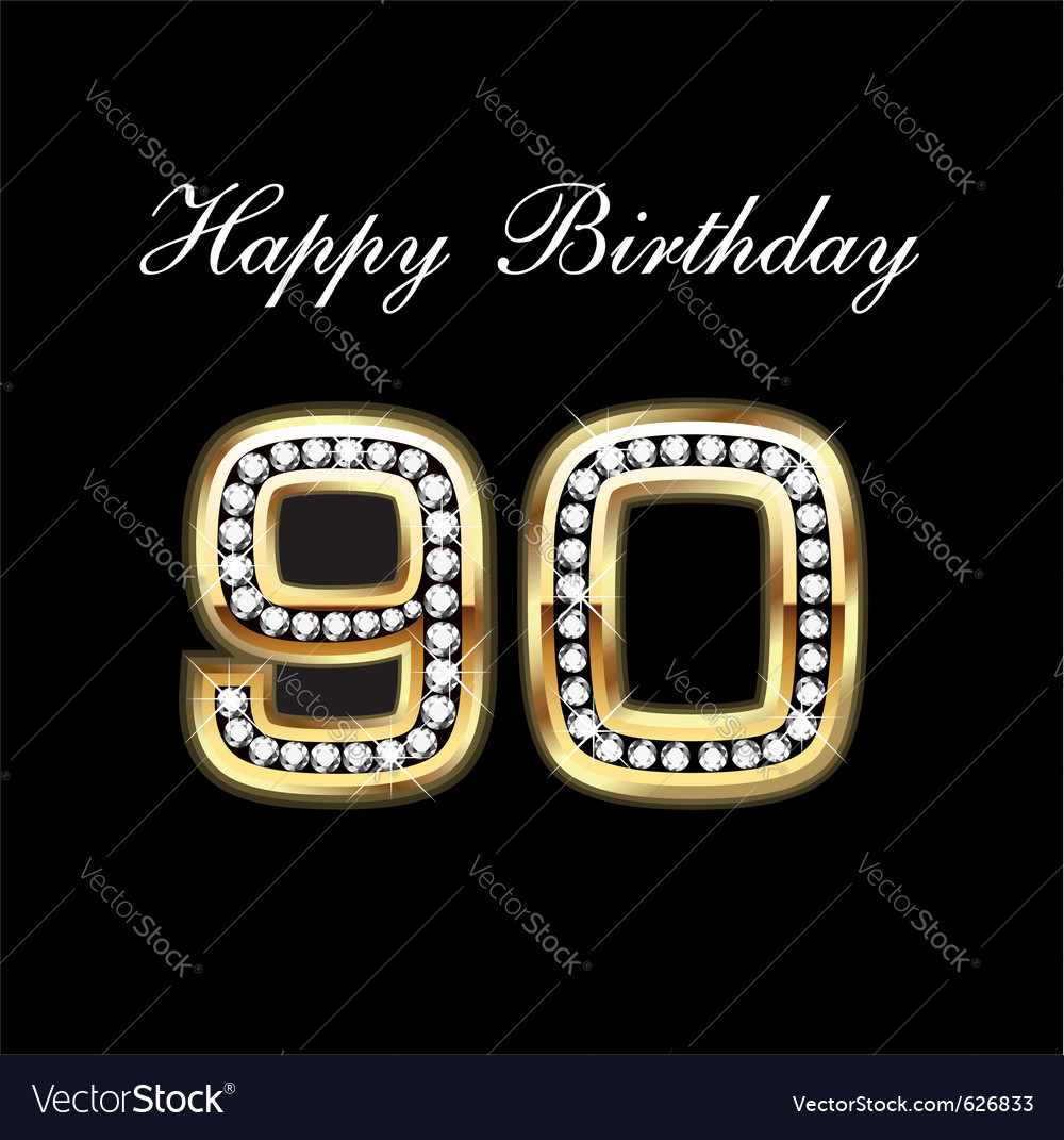 90th Happy Birthday Vector Image