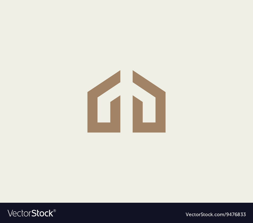 Abstract house hands logo design template Premium vector image