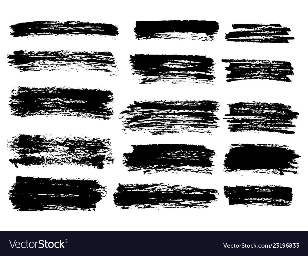 Black paint ink brush stroke brush line
