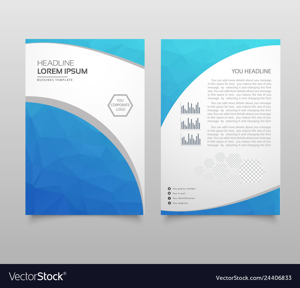 Business brochure flyer design a4 template with