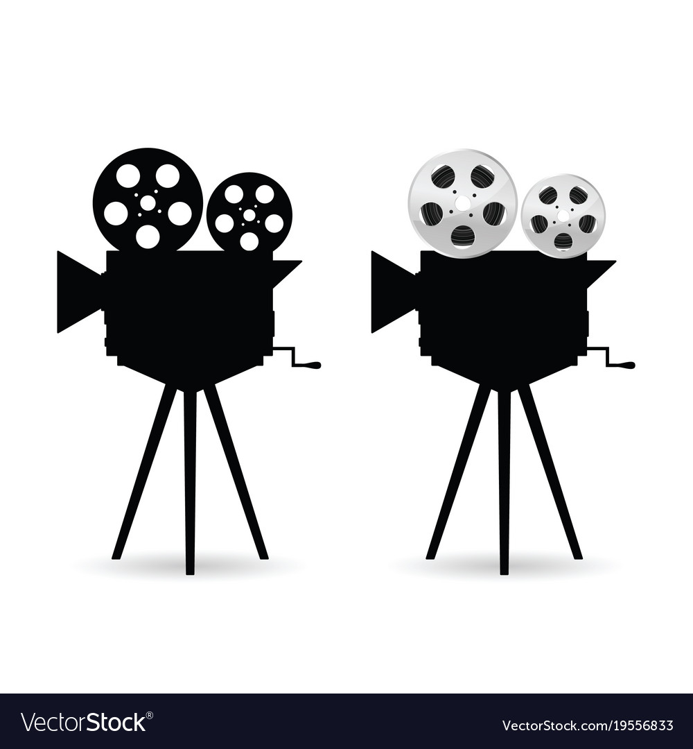 camera with film tape roll royalty free vector image