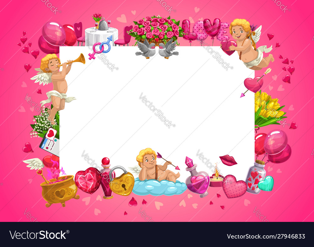 Cupids valentines day gifts flowers love hearts